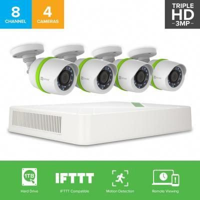 8 Channel 1280 Tvl 1tb Hdd Security Surveillance Wired Camera Systems 100 Ft Nig Security Camera System Security Cameras For Home Home Security Camera Systems
