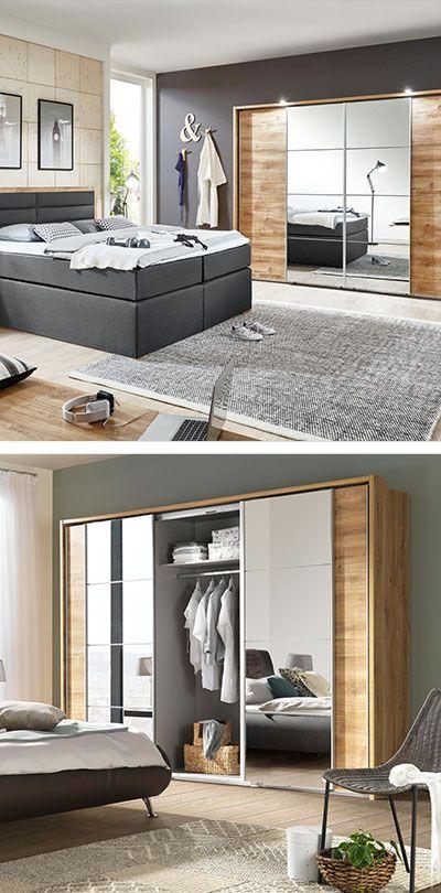 Schwebeturenschrank In Eichefarben Home Decor Home Furniture