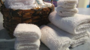 TOWELS made from baby wash cloths - how to fold and glue