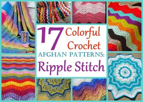 Afghans aren't just for cuddling up with during the winter months! Springtime is a perfect time of the year to crochet some colorful crochet ripple afghans.