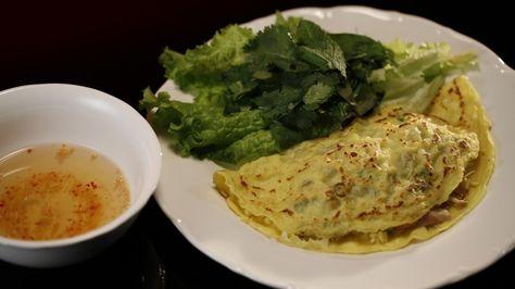 Vietnamese Pork and Prawn Pancakes (banh xeo)