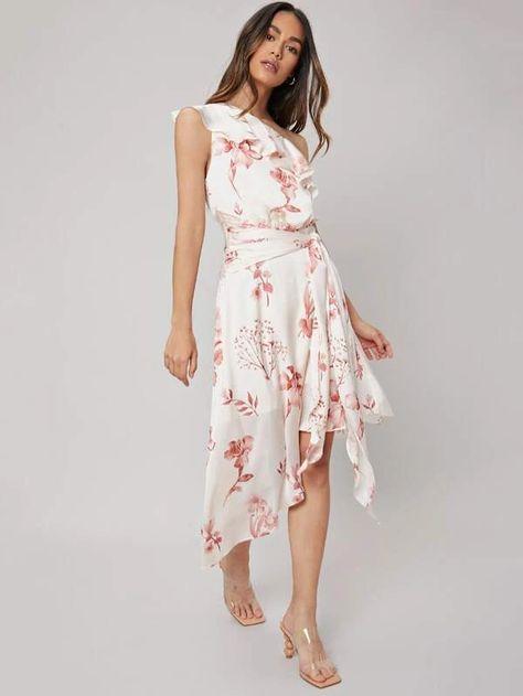 MOTF PREMIUM ASYMMETRICAL ONE SHOULDER DRESS