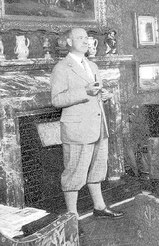 P.G. Wodehouse in 1928 at Hunstanton Hall - from The Russian Wodehouse Society