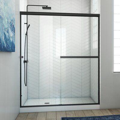 Arizona Shower Door Lese 60 X 70 38 Bypass Semi Frameless Shower Door In 2021 Black Shower Doors Semi Frameless Shower Doors Shower Doors Semi frameless sliding shower door