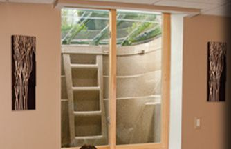 the wellcraft 2060 series egress window well provides a safe method for escape from your basement