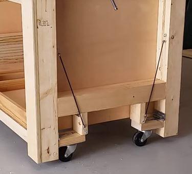 Retractable Casters Woodworking Shop Plans Retractable Casters