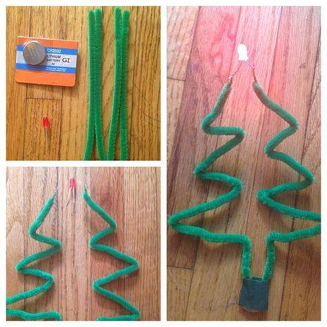 Science Gifts Pipe Cleaners - How To Make Pipe Cleaner Circuit Ornaments 4th Grade Science, Stem Science, Science Fair, Teaching Science, Science For Kids, Christmas Activities, Science Activities, Christmas Projects, Science Experiments