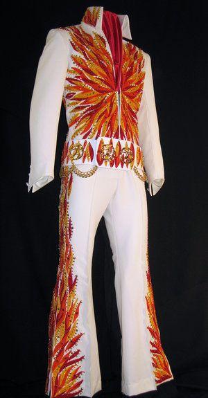 Elvis costume 1970s bell bottom jumpsuit