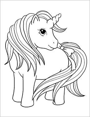 Ausmalbild Baby Einhorn Zum Ausdrucken Unicornio Para Colorir Animais Para Colorir Desenhos Para Pintar