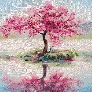 Cherry Blossom Tree Print Watercolor Painting Print Spring Tree Gift Bedroom Decor Wall Art Cherry Blossom Decor Home Wall Decor Cherry Blossom Tree Blossom Trees Pink Blossom Tree