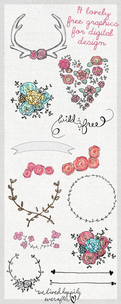 14 Lovely Free Graphics for Digital Design
