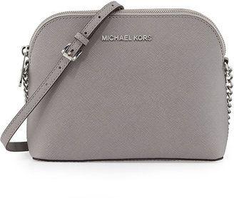 03aec7888173 MICHAEL Michael Kors Cindy Large Dome Crossbody Bag, Pearl Gray ...
