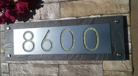 Modern Address Plaque Mid Century House Numbers House Numbers