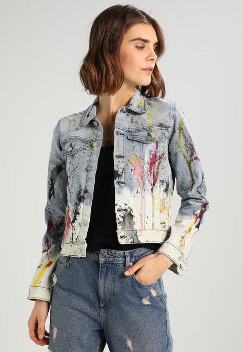 Pepe Jeans ELLIE PAINT - Denim jacket - denim - Zalando.co.uk