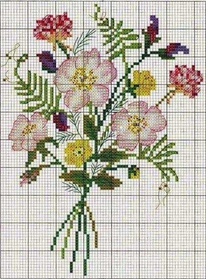 """Милые сердцу штучки: рукоделие, декор и многое другое: Круглая шкатулка с вышивкой """"Bouquet de Fleurs"""" (""""Букет цветов"""")"""