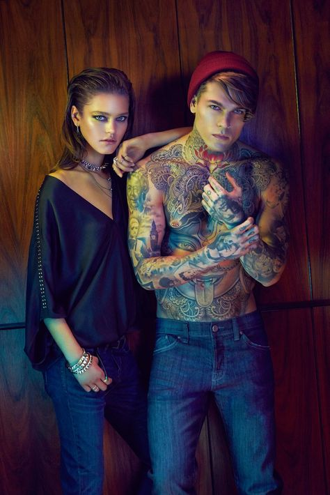 Stephen James with Elite Models in Barcelona becomes the new face of William Rast posing for the masterfully shot imagery by photographer Max Abadian at Atelier Management.