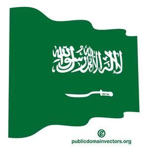 Vector flag of Saudi Arabia, a desert country on the Arabian peninsula.