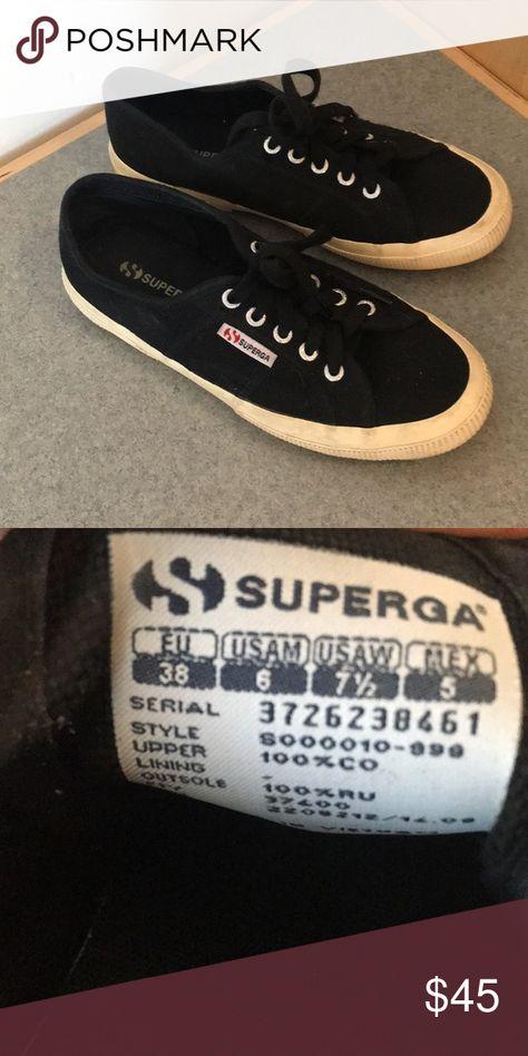 foto ufficiali e93e6 1afa2 Superga Shoes | Superga Black Size 38 | Color: Black | Size ...