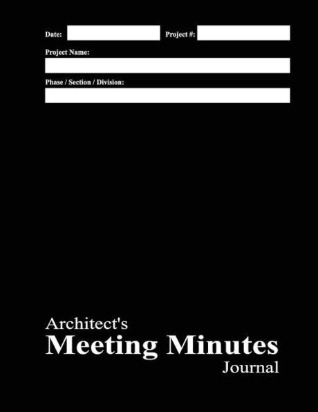 ArchitectS Meeting Minutes Journal Black Cover  Journals