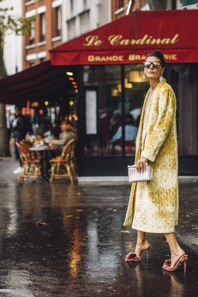 Giovanna Battaglia's Colorful Velvet - The Best Outfits Worn to Paris Fashion Week - Photos