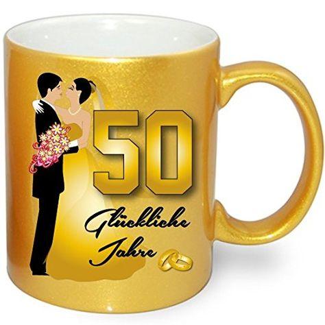 Tasse Goldene Hochzeit 50 Hochzeitsgeschenk Gold