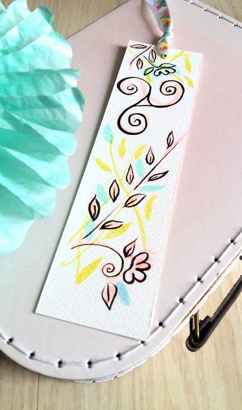 Marque-pages Aquarelle Triskel de Printemps