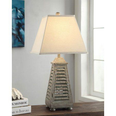 Shutter Tower Table Lamp Tablelamps Cottage Table Table Lamp Lamp