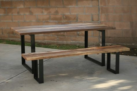 Arbor Exchange Reclaimed Wood Furniture Outdoor Table Bench