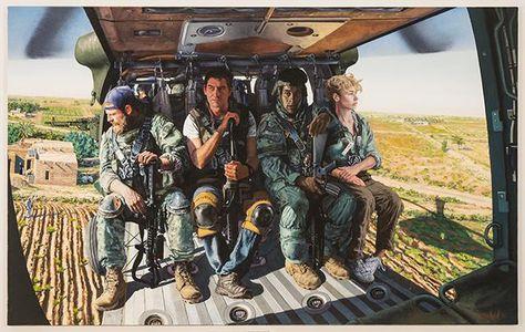 Ehrfurchtgebietende Ölgemälde porträtieren die Ängste des Krieges | The Creators Project