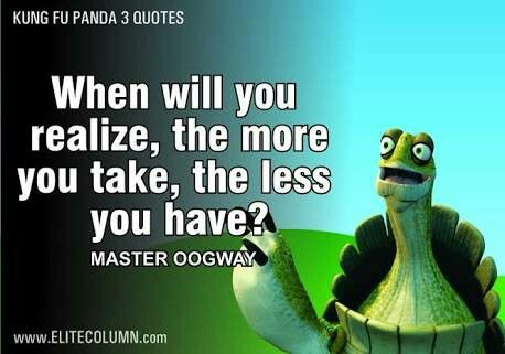 When Will You Realize Oohh Human Master Oogway Disney Quotes Master Oogway Funny Quotes