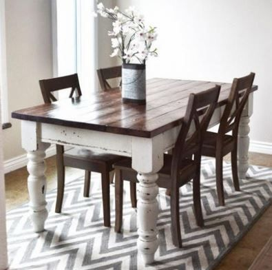 rustic country chic! could distress bottom of table! Our table is ...
