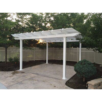 Zen Pergolas Freestanding Metal And Vinyl Pergola Size 12 Ft W X 14 Ft D In 2020 Vinyl Pergola Pergola Backyard Pergola