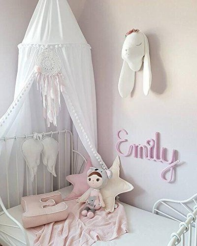 Sale Price 38 99 Loaol Kids Bed Canopy With Pom Pom Hanging Mosquito Net For Baby Crib Nook Castle Game Tent Nursery Play Room Decor Kids Bed Canopy Kids Room Bed Kids Canopy