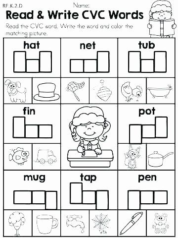 Sentence Starters For Kindergarten Best Of Cvc Worksheets For Kindergarten Worksheets Grade In 2020 Cvc Worksheets Kindergarten Literacy Worksheets Literacy Worksheets