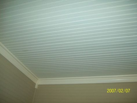 Interior Inspiring Image Of White Wood Ceiling Panel Including