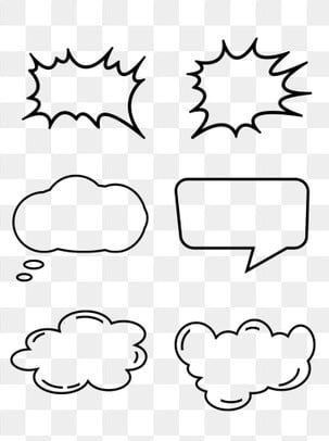 Black Minimalistic Linear Explosion Cloud Box Dialog Bubble Session Frame Clipart Simple Linear Png Transparent Clipart Image And Psd File For Free Download Dialogue Bubble Doodle Frame Frame Clipart