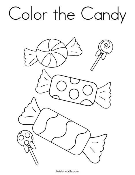 Color The Candy Coloring Page Twisty Noodle Candy Coloring Pages Candy Drawing Coloring Pages