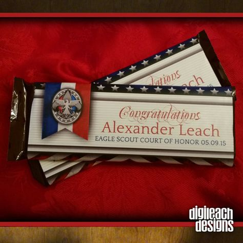 Eagle Scout Court of Honor Candy Bar Wrapper: by DigileachDesigns