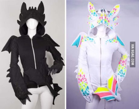 Dragon Hoodie Black and White - Front View I want this so bad! but its 400 dollars! buying it would save me so much time!