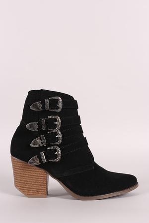 SAMUELLE Knee High Buckle Strap Boot black | Dune London