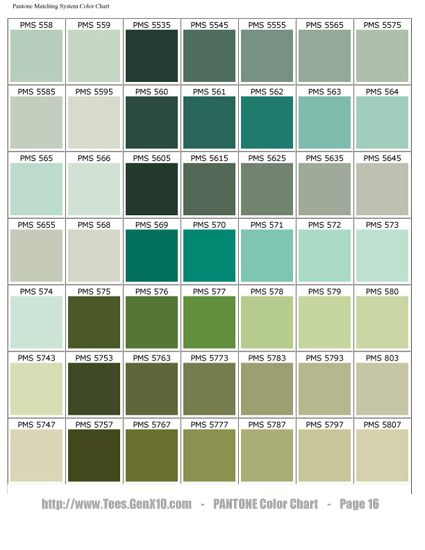 Pantone Color Chart - Pms - Screen Printing Very Good Webpage To