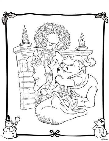 Kids N Fun Com 48 Coloring Pages Of Christmas Disney Disney Coloring Pages Merry Christmas Coloring Pages Disney Colors