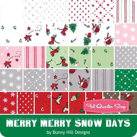Moda Christmas Fabric 2019.Merry Merry Snow Days By Bunny Hill Designs For Moda Fabrics
