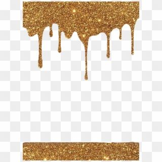 Frame Overlay Gold Glitter Sparkle Dripping Drips Hd Png Download Gold Glitter Background Gold Glitter Gold Background