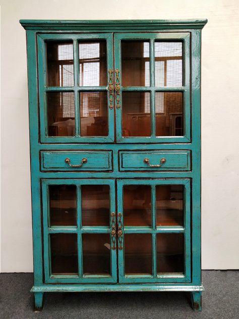 Light blue antique finish