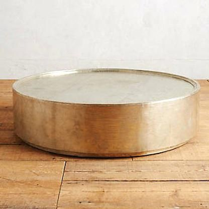 Gold Hammered Coffee Table White Gold Drum Coffee Table Item Gold