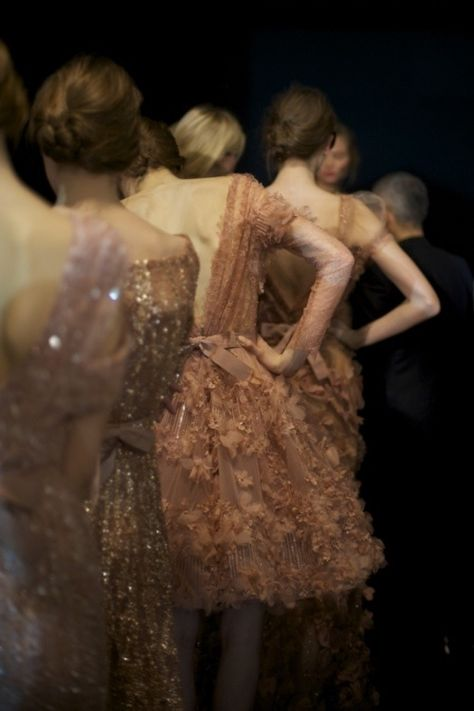 Ellie Saab show in Paris...it's like looking at a Degas painting.