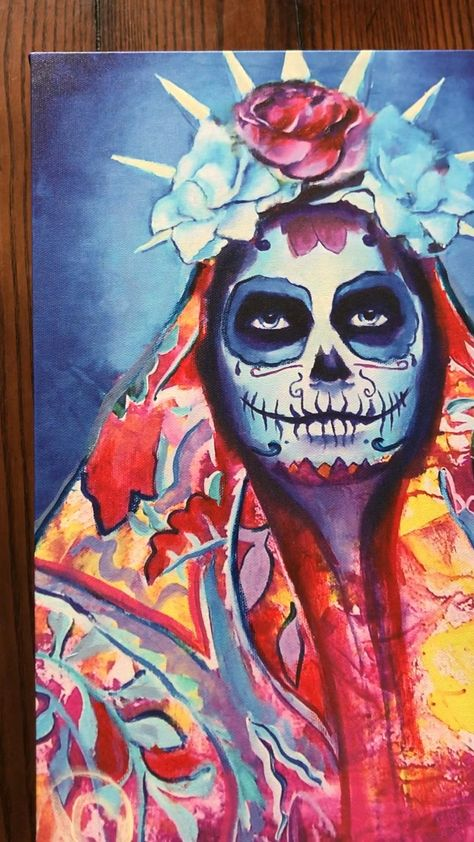 Day of the dead art | canvas wall art | abstract