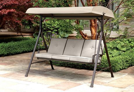 Hometrends Venice 3 Seat Patio Swing Cream 4 Patio Swing Luxury