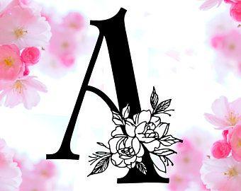 Floral Letter C Svg Flower C Font Svg Floral Letters Svg Etsy In 2020 Floral Letters Floral Monogram Floral